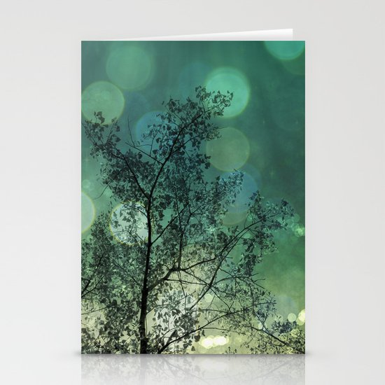 Tree Magic in Teal Stationery Card