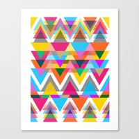 Triangles, Shapes, Color… Canvas Print