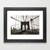 tied down Framed Art Print