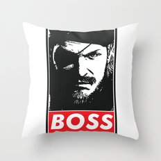 Big Boss - Metal Gear Solid Throw Pillow