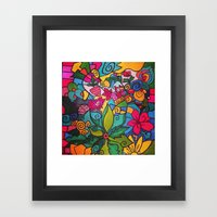 Flower Doodles Framed Art Print