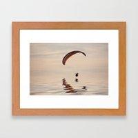 Powered Paraglider Framed Art Print