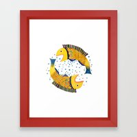 swimming circle Framed Art Print