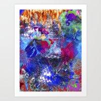 Unicorn boom Art Print