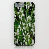 iPhone & iPod Case featuring Falling Into Flowers by Biff Rendar