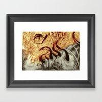 Elisha Blinds Arameans Framed Art Print