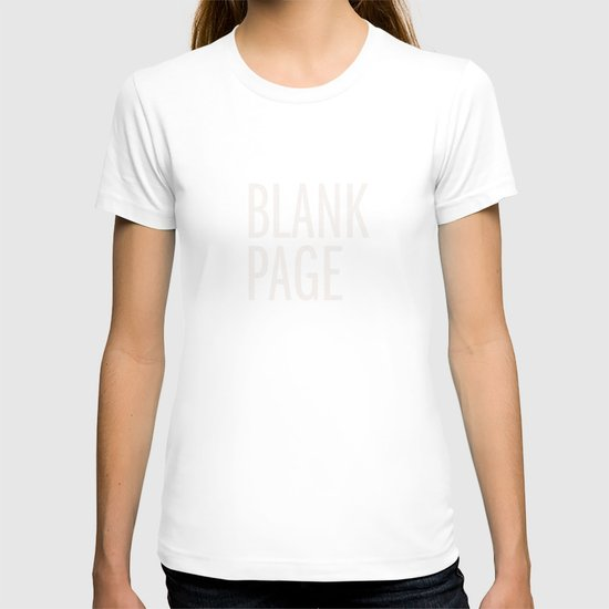 Blank Page T-shirt