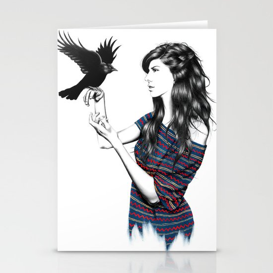Dark Wings Stationery Card