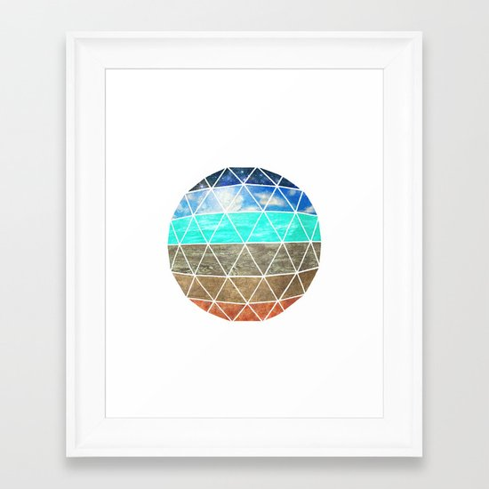 Elemental Geodesic  Framed Art Print