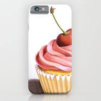 iPhone & iPod Case featuring The Perfect Pink Cupcake by Patricia Shea Designs