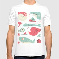 Weird Fishes Mens Fitted Tee White SMALL