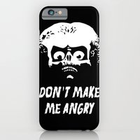 iPhone Cases featuring Don't make me angry by mOng
