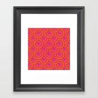 Tropical Parasols Pattern Framed Art Print