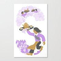 S as Serveur (Waiter) Canvas Print