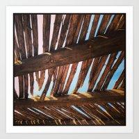 Thatched Roof, Santa Fe, NM Art Print