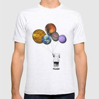 Planet balloon girl Mens Fitted Tee Ash Grey SMALL