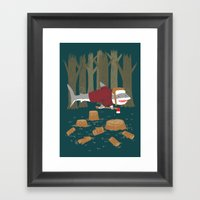 LumberJack Shark Framed Art Print