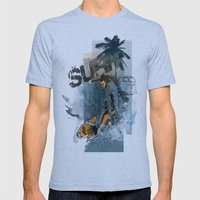 Surf Mens Fitted Tee Athletic Blue SMALL