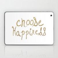Choose Happiness Gold Edition Laptop & iPad Skin