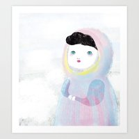 Miss Winter Art Print