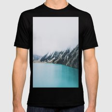 Turquoise water Mens Fitted Tee Black SMALL