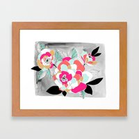 Bright Floral Framed Art Print