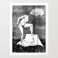 daydreaming while posing  Art Print