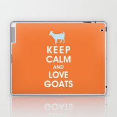 Keep Calm and Love Goats Laptop & iPad Skin