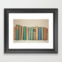 Literary Gems I Framed Art Print