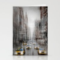 City-Art NYC 5th Avenue Yellow Cabs Stationery Cards