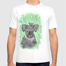 Koalas Mens Fitted Tee SMALL White