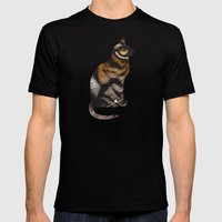 THE TIGER WITHIN Mens Fitted Tee Black SMALL