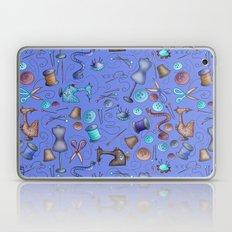 Sewing tools - azulados Laptop & iPad Skin