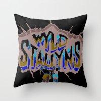 Wyld Stallyns Throw Pillow