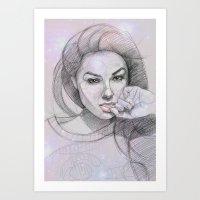 Circlefaces Art Print