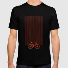 Red Bike by Friztin SMALL Mens Fitted Tee Black