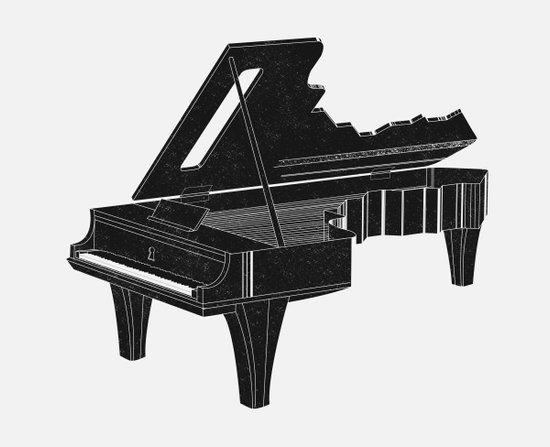 Music Is The Key B Art Print