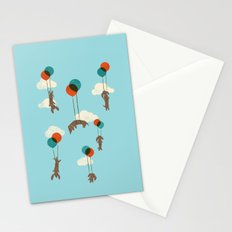 Flight of the Wiener Dogs Stationery Cards