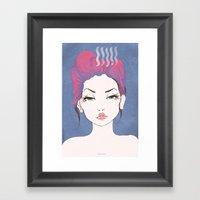 Balance Girl Framed Art Print
