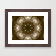 Chocolate Mosaic - Fractal Art Framed Art Print