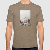 Happy Happy Mens Fitted Tee Tri-Coffee SMALL