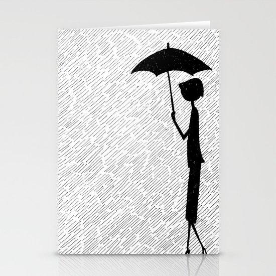 Rainy Day Stationery Card