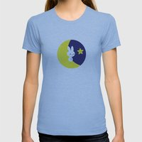 Moonbunny Womens Fitted Tee Athletic Blue SMALL