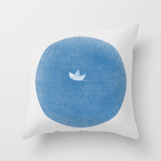 into the sea Throw Pillow