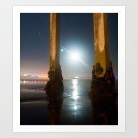 Amphitrite By Moonlight Art Print