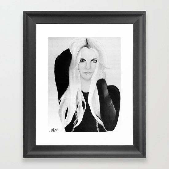 Wall Art Black N White : Britney spears jean black n white framed art