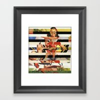Glitch Pin-Up Redux: Lin… Framed Art Print