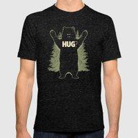 Bear Hug? (dark Version) Mens Fitted Tee Tri-Black SMALL