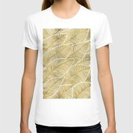 Tropical Gold Womens Fitted Tee White SMALL