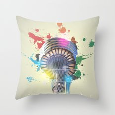 Sydney Tower Abstract Throw Pillow
